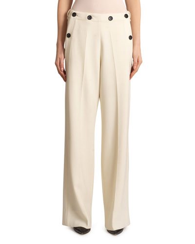 Palmetto Wool-Crepe Trousers