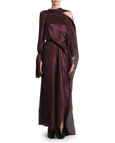 Solera Metallic Gown