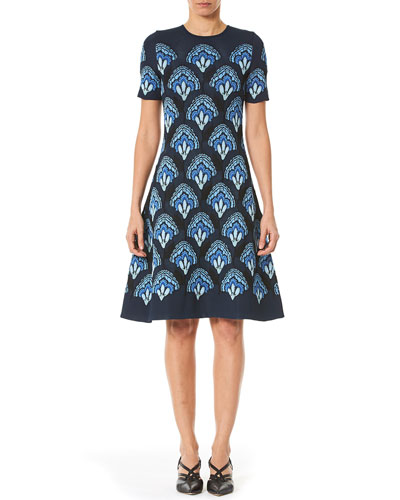 Carolina Herrera Blue Dress Neiman Marcus