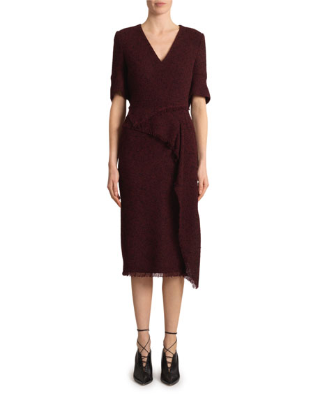 Roland Mouret Marengo Boucle Midi Dress