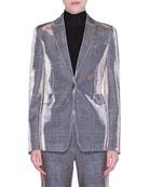 Akris punto Metallic Glen Check Jacket and Matching