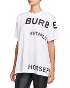 Burberry Horseferry Logo Oversized T-Shirt