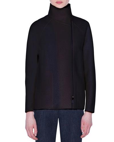 Cashmere-Boucle Raglan-Sleeve Sweater