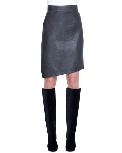 2a1a1dd48d Quick Look. Akris · Asymmetric Napa Leather Pencil Skirt