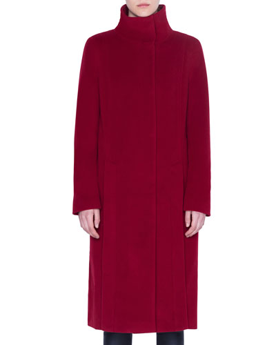 Wool-Cashmere Midi Coat