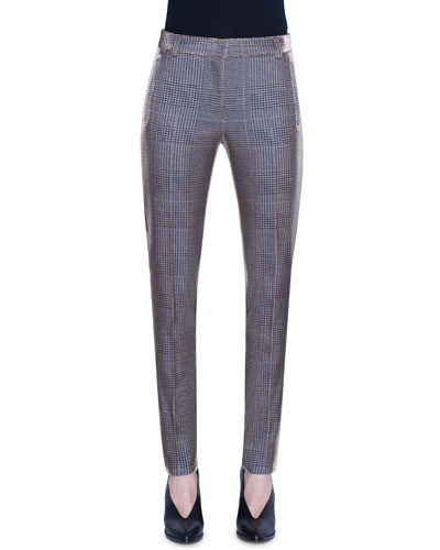 Fabia Metallic Glen Checked Jersey Pants
