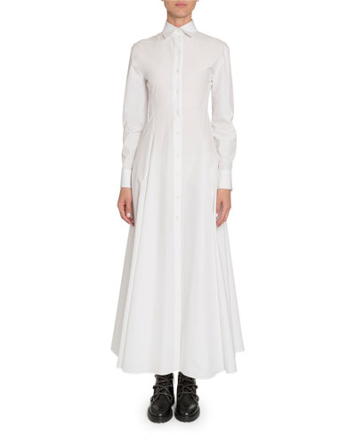 Poplin Long-Sleeve Shirtdress