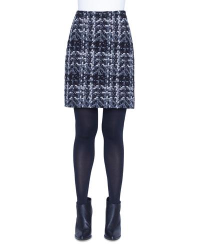 Check-Jacquard Pencil Skirt