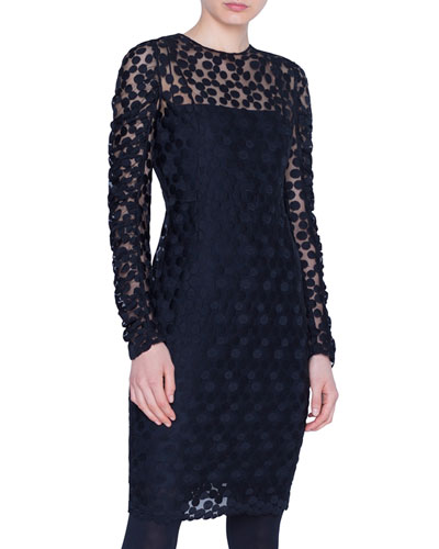 Dotted Devore Illusion Dress