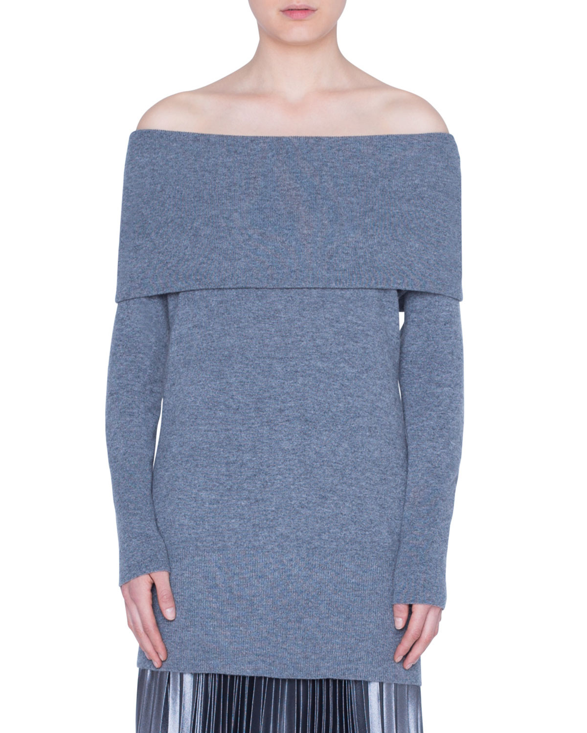 Akris Punto Sweaters CARMEN OFF-THE-SHOULDER WOOL-CASHMERE SWEATER