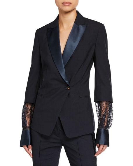 Brunello Cucinelli Lightweight Wool Tuxedo Jacket