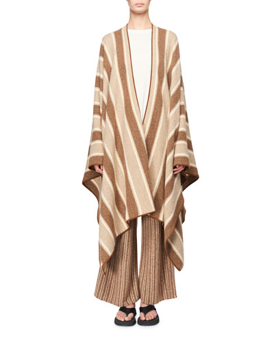 Merlyn Striped Superfine Cashmere Cape
