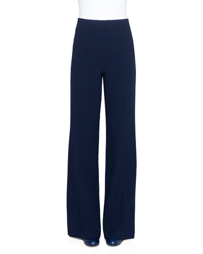 Wide-Leg Double-Face Wool Pants