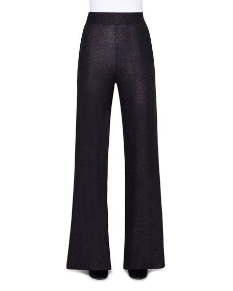 Akris Shimmer Silk Wide-Leg Pants