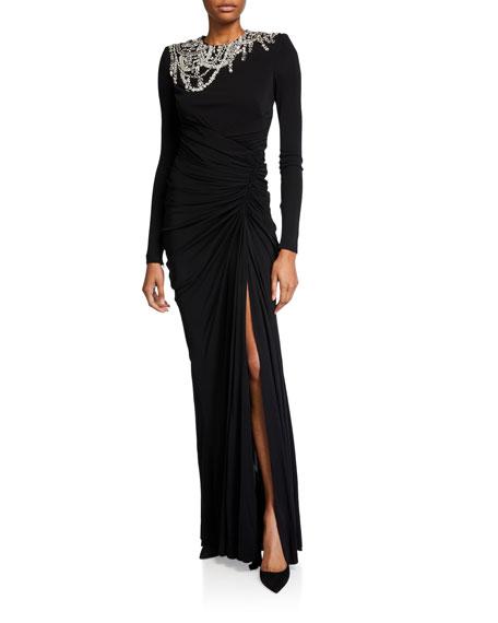 Alexander McQueen Chandelier Embellished Column Gown
