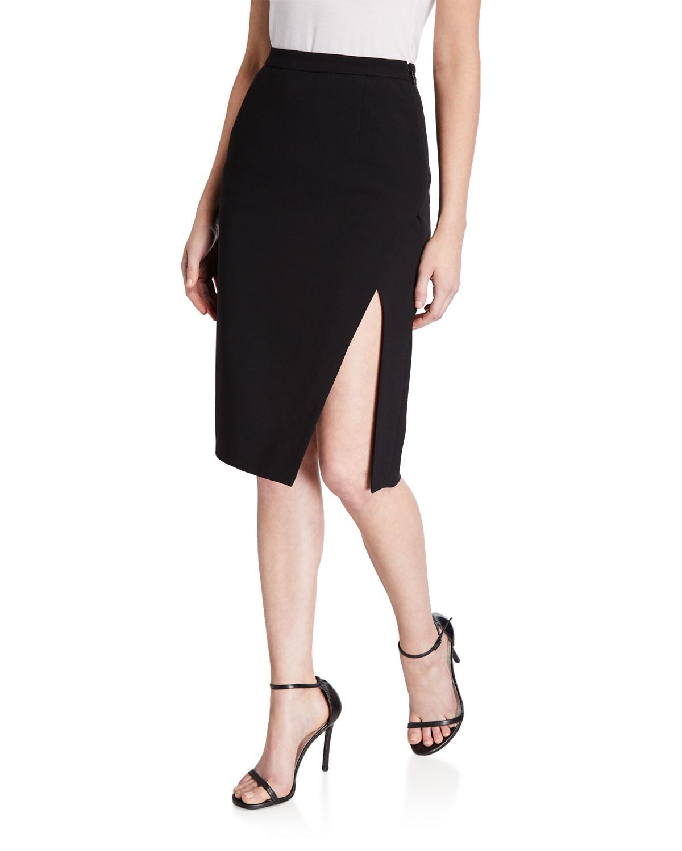 Lancaster Crepe Classic Side-Slit Skirt