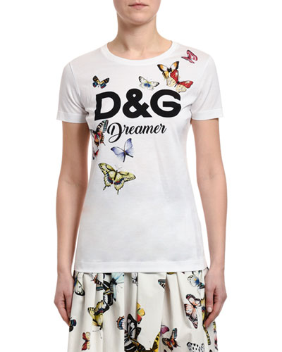 Short-Sleeve DG Dreamer Butterfly Jersey Shirt