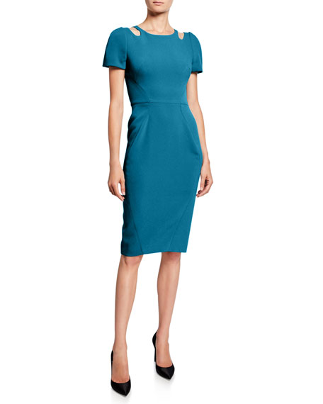 Zac Posen Cutout-Neck Sheath Dress