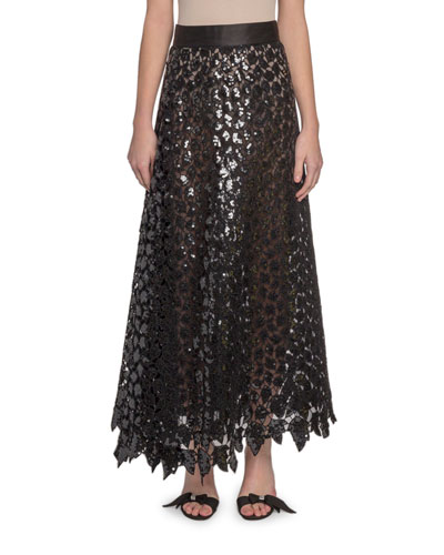 1795a97a64 Quick Look. Marc Jacobs · Sequined Leaf Lace Midi Skirt