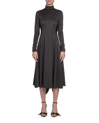 High-Neck Glittered Dress