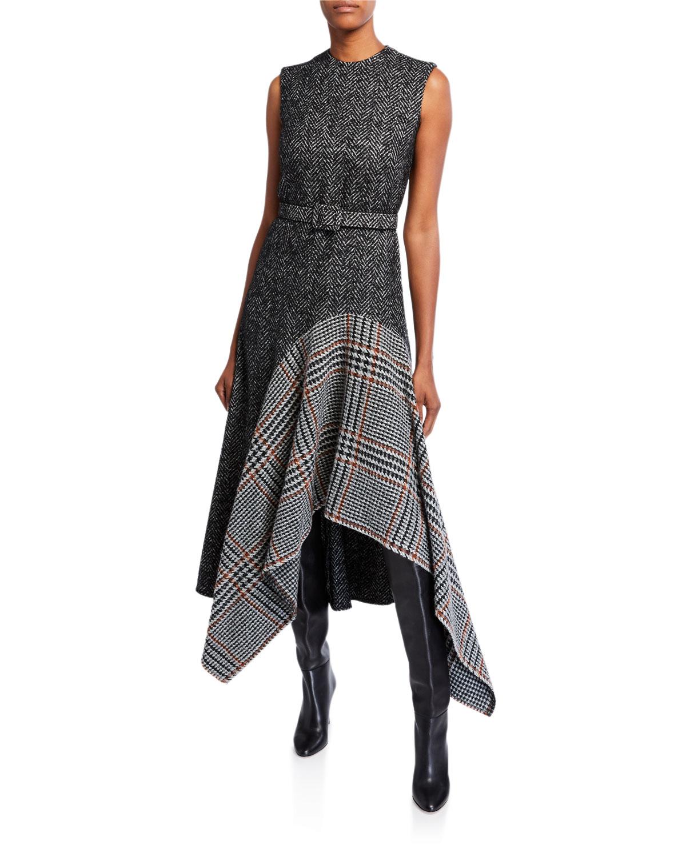 Oscar De La Renta Dresses MULTIPRINT WOOL-SILK DAY DRESS