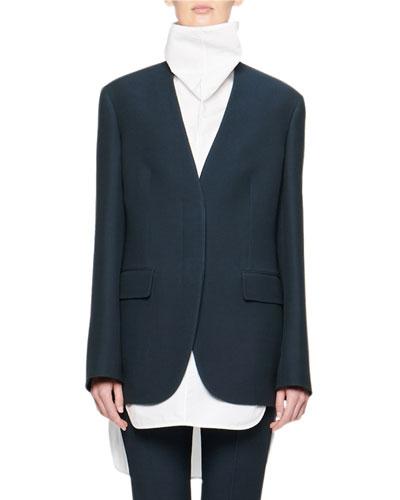 Murray Collarless Wool Jacket