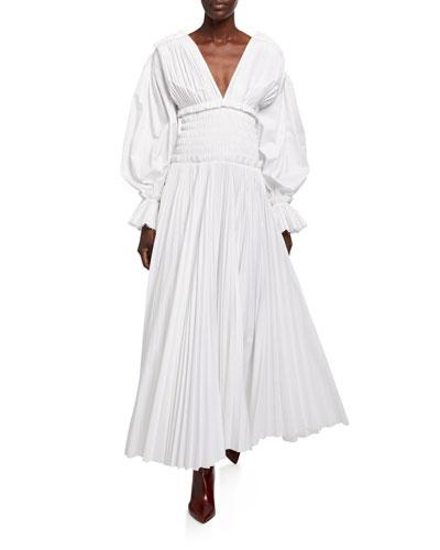 Dawny Cotton Puff-Sleeve Dress