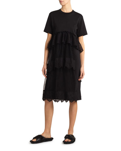 Frilled T-Shirt Dress