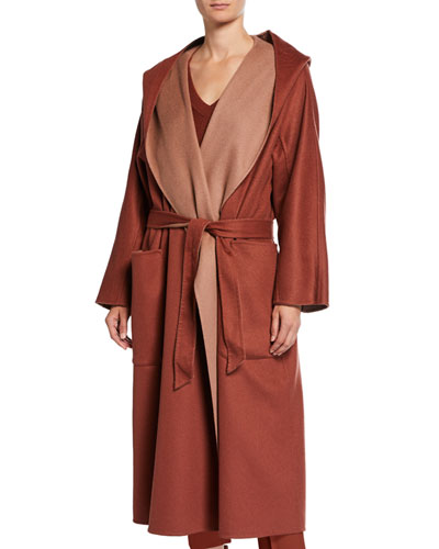 Cashmere Reversible Midi Wrap Coaat