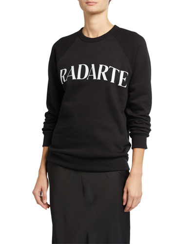 Oveersized Radarte Font Sweatshirt