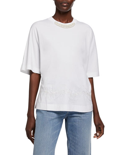 Tinsel-Embroidered Boy Tee
