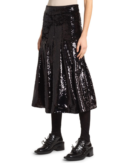 Simone Rocha Sequined Pleated Skirt