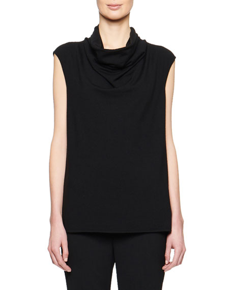 THE ROW Leila Wool-Cashmere Cowl-Neck Top