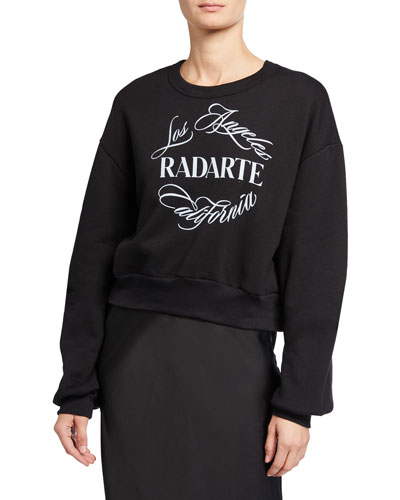 Radarte Font Sweatshirt, Black