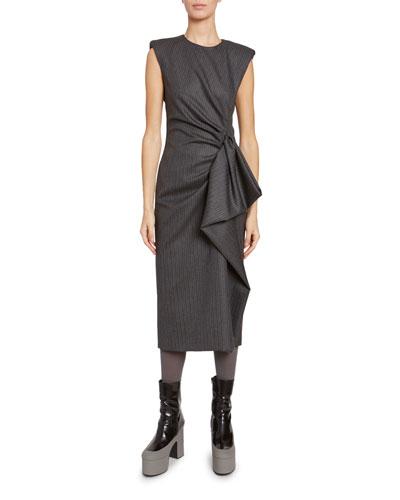 Ruched-Side Dress