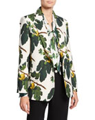 Libertine Figgy Pudding Printed Wool Blazer