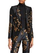 Escada Begasha Floral Slim Blazer and Matching Items