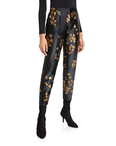 Talaranto Embroidered Slim-Leg Pants