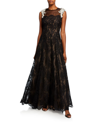 Ghellias French Lace A-Line Dress