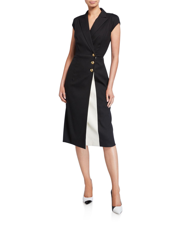 Escada Dresses DHANA CAP-SLEEVE KICK SLIT DRESS