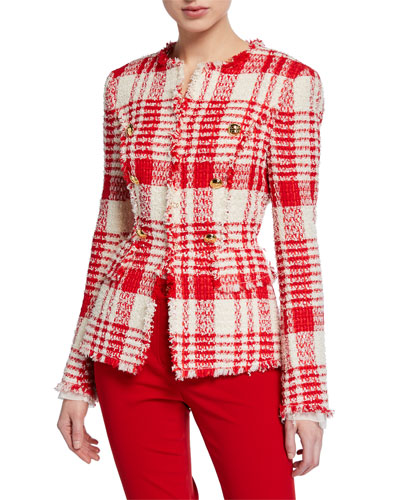 Betlu Glen Plaid Tweed Jacket