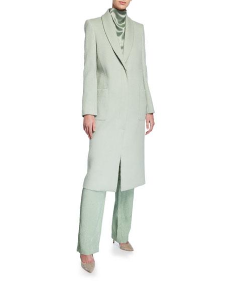 LAPOINTE Snake-Print Wool Tailored Coat