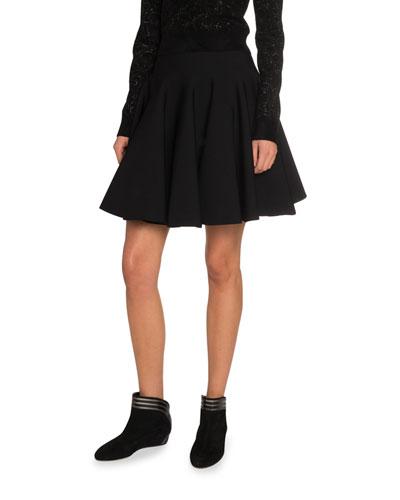 Knee Length Flounce Skirt