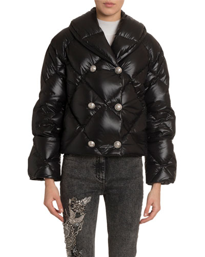 6-Button Down Puffer Jacket