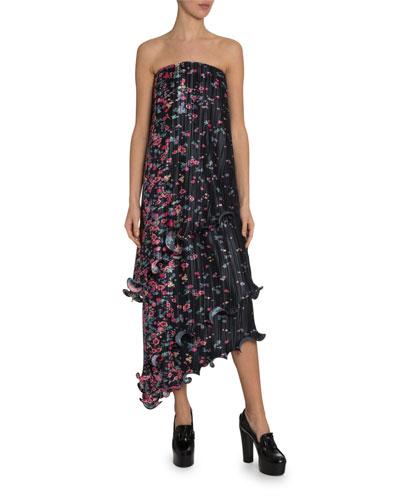 Strapless Bustier Column Dress