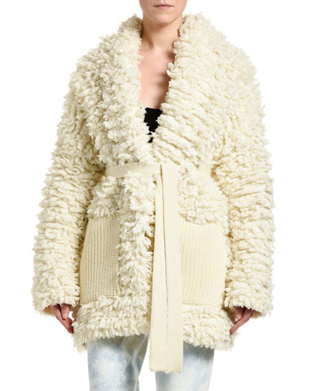 Alanui Knitted Stitched Coat