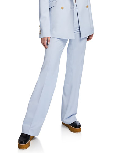 Torre Flat-Front Flare Pants
