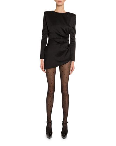 Satin-Side Disco Button Dress