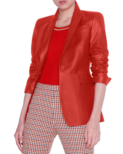 Perforated Napa Leather Blazer