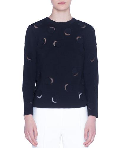 Tulle-Trim Luna-Cut Jersey Shirt